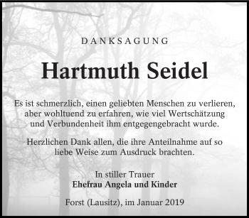 Traueranzeige für Hartmuth Seidel vom 26.01.2019 aus lausitzer_rundschau