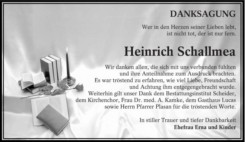 Traueranzeige für Heinrich Schallmea vom 23.03.2019 aus lausitzer_rundschau