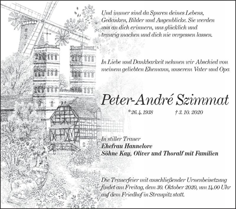 Traueranzeige für Peter-André Szimmat vom 17.10.2020 aus lausitzer_rundschau