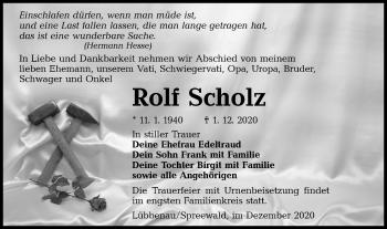 Traueranzeige von Rolf Scholz von lausitzer_rundschau