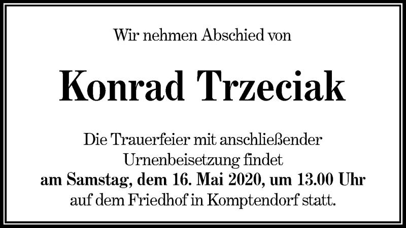 Traueranzeige für Konrad Trzeciak vom 09.05.2020 aus lausitzer_rundschau