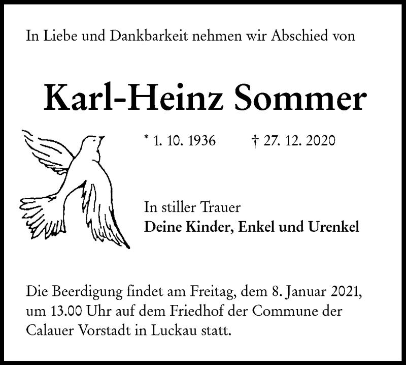 Traueranzeige für Karl-Heinz Sommer vom 02.01.2021 aus lausitzer_rundschau