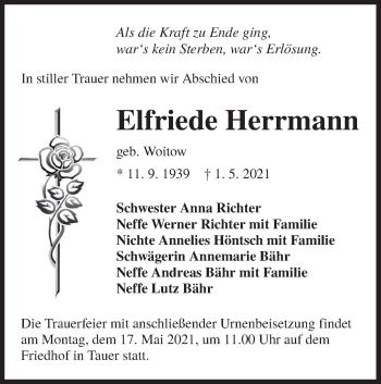 Traueranzeige von Elfriede Herrmann von lausitzer_rundschau