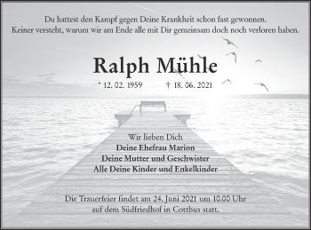 Traueranzeige von Ralph Mühle von lausitzer_rundschau