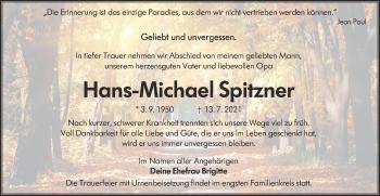 Traueranzeige von Hans-Michael Spitzner von lausitzer_rundschau