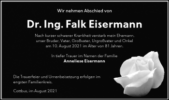 Traueranzeige von Falk Eisermann von lausitzer_rundschau