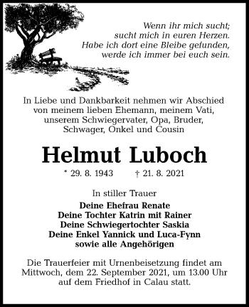Traueranzeige von Helmut Luboch von lausitzer_rundschau